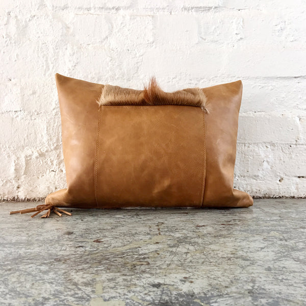 Leather & Springbok Cushion