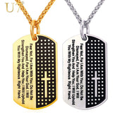 Dog Tag Cross Necklace & Pendant