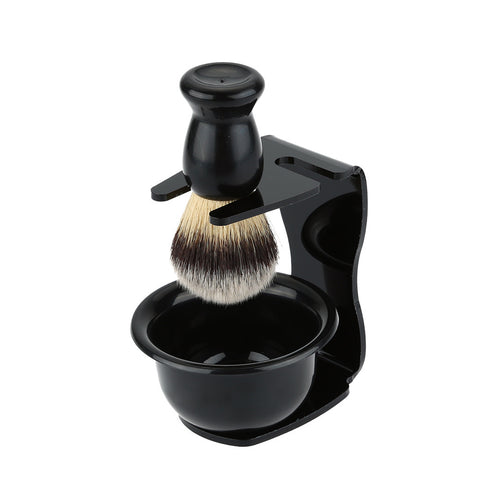 3 In 1  Bowl + Brush+  Stand Bristle beard care