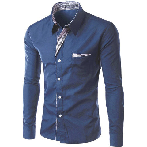Slim Design Formal  Male Dress Shirt