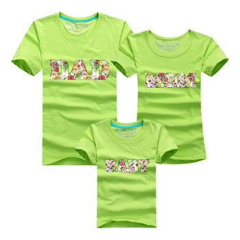 DAD MOM BABY Family Matching Outfits T Shirt Short Sleeve - Westbury Collections