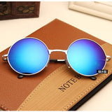 Round Sunglasses Women Men Brand Mirrored Glasses Retro Female Male Sun Glasses Men's Women's