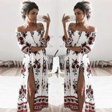 Off Shoulder Casual Long  Dress