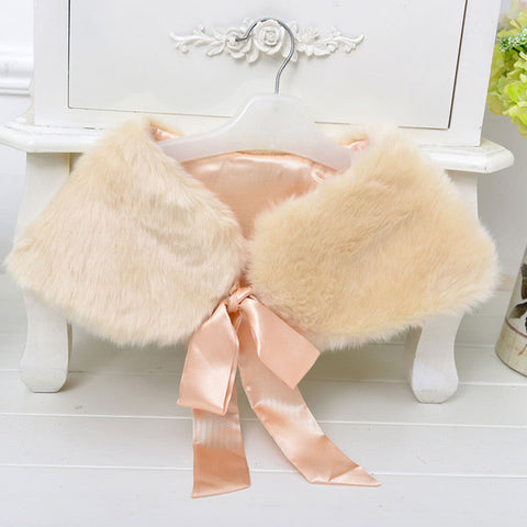 Soft  fur  girls shawl