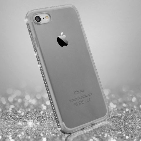 Luxury Diamond Transparent Soft  Cover Case  For iPhone