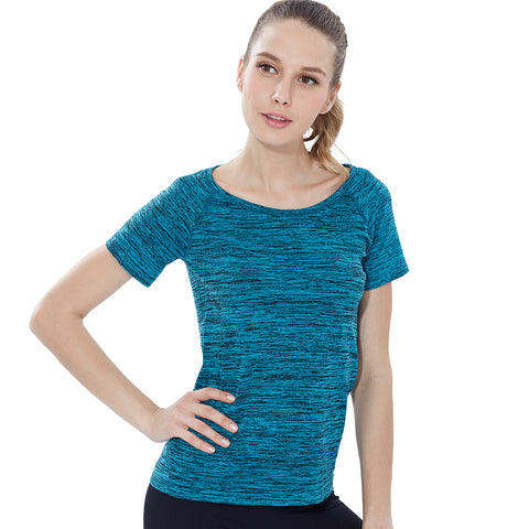 Quick Dry  Short Sleeve  Yoga  Fitness T-shirt