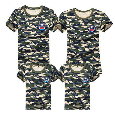 Summer Family Matching Clothes Army Color Family Look T-shirt Tees - Westbury Collections