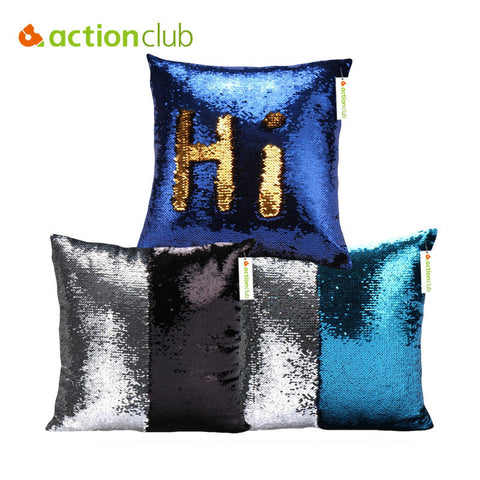 Two Tone Glitter Sequins Throw Pillow Case