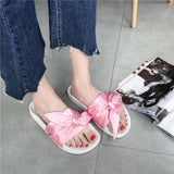 Silk Bow Slides Women  Sandals