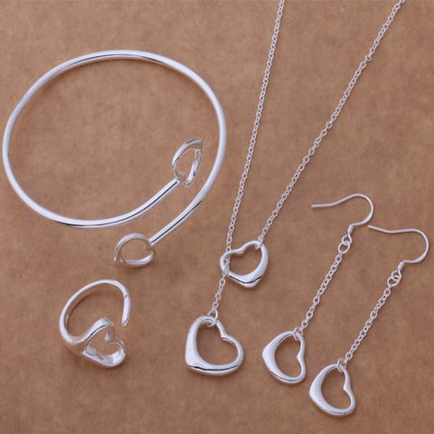 Jewelry Sets Earring + Necklace  + Bangle  + Ring