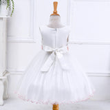 Girls White  Flower Girl Dress