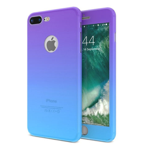 Full Body Cases + Tempered Glass For iPhone
