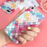 Colorful 3D Scales Phone Cases For iPhone