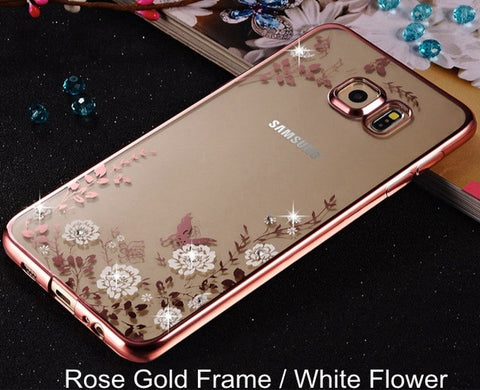 Samsung Galaxy Flower Diamonds Soft Cover