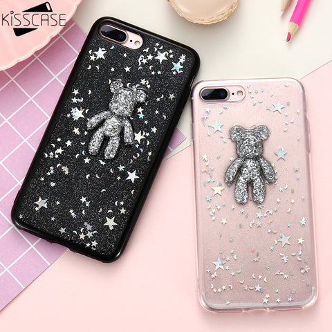 3D Bear  Case For iPhone 8 6 6s 7 7 Plus 8 PLus - Westbury Collections