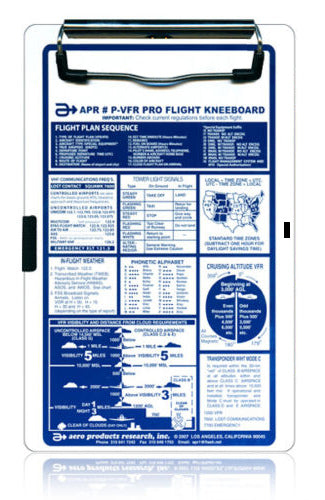 NEW APR Deluxe IFR Pro-Flight KneeboardAPR P-IFRPilot Kneeboard