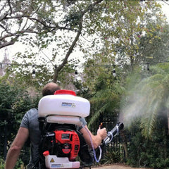 Gas Powered Backpack Fogger & 2 Gallons Natural Mosquito Magician Concentrate - Contractor Pack