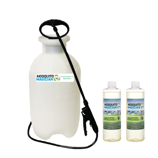 Pump Up Sprayer with 2 Pints Natural Mosquito Killer & Repellent Concentrate Combo