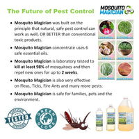Mosquito Killer & Repellent Concentrate - Easy To Use Pack! 4 ounce bottles (2)