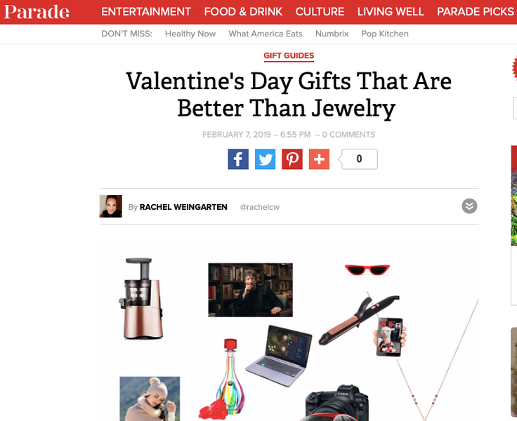 We Are In Parade.com's Valentine's Day Guide to Gifts That Are Better Than Jewelry!!!