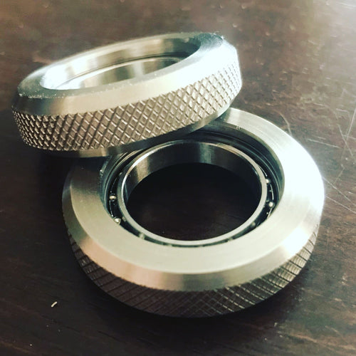 Knurled Ring-A-Round Spinner Stainless Steel - Made in the USA