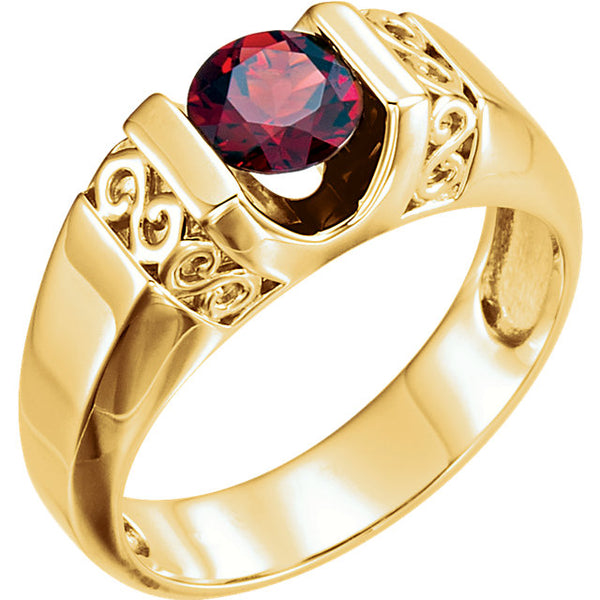 Ruby  Men's Ring