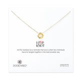 Love Knot Necklace - Gold Dipped