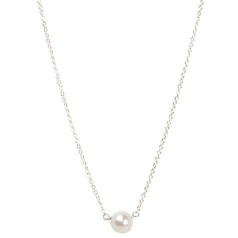 Pearls Of Friendship Large White Pearl Necklace - Sterling Silver