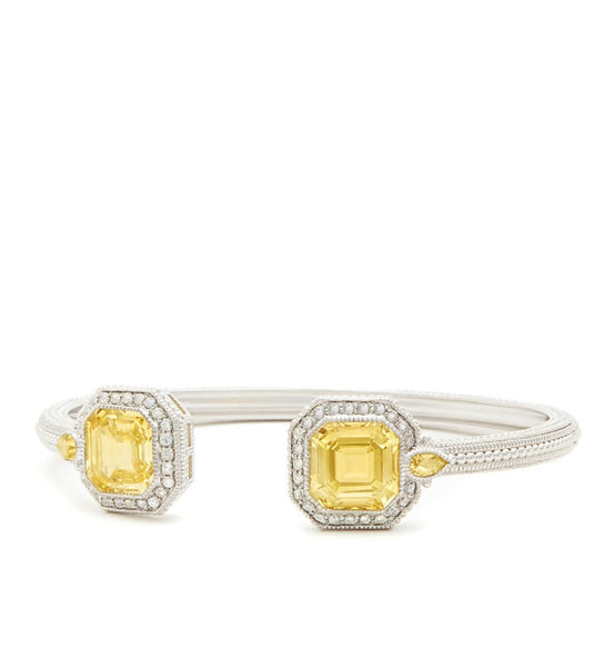 Aria Ascher Cut Canary Crystal Open Cuff