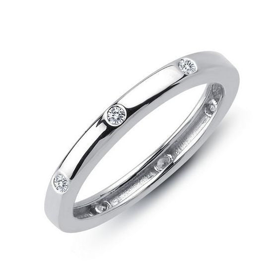 Simulated Diamond Sterling Silver Ring R0104CLP