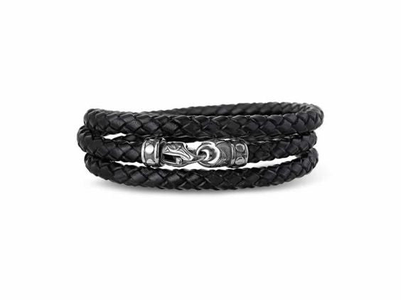 Woven Leather Triple Wrap Bracelet