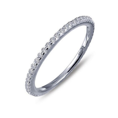 Simulated Diamond Sterling Silver Ring R0038CLP
