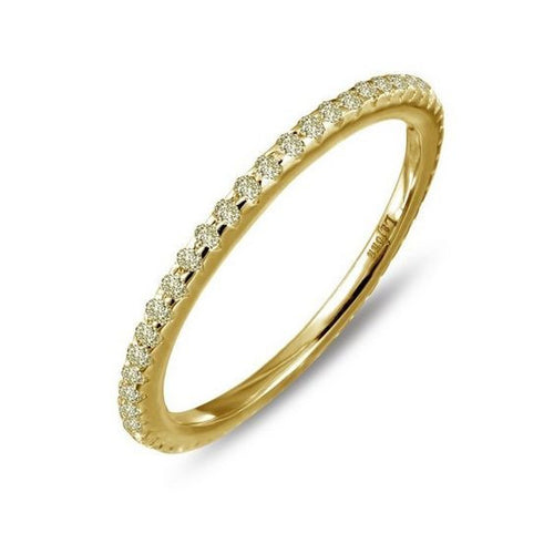 Simulated Canary Diamond Gold Plate Ring R0038CAG