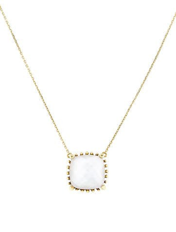 18kt Yellow Gold Mother Of Pearl Necklace