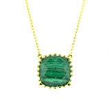 18kt Yellow Gold Malachite Necklace