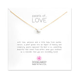 Pearls Of Love Large White Pearl Necklace - Gold Dipped