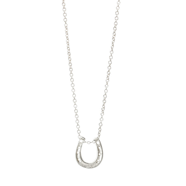 Lucky Horseshoe Necklace - Sterling Silver