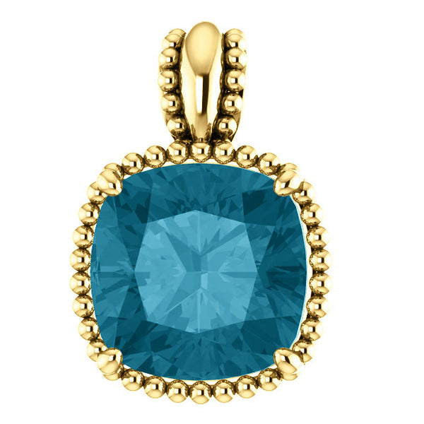 Topaz Beaded Pendant