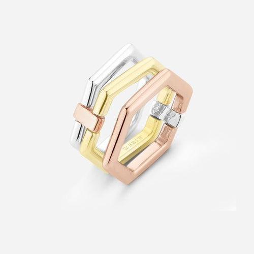 Tri Color 4 Way Ring