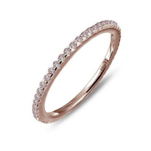 Simulated Pink Diamond Rose Gold Plate Ring R0038PKR