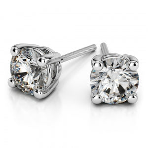 4 Prong Diamond Studs
