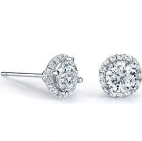 Diamond Studs with Halo