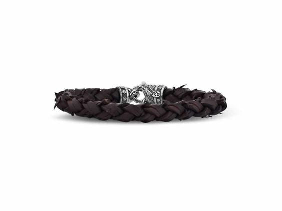 Woven Cactus Leather Bracelet