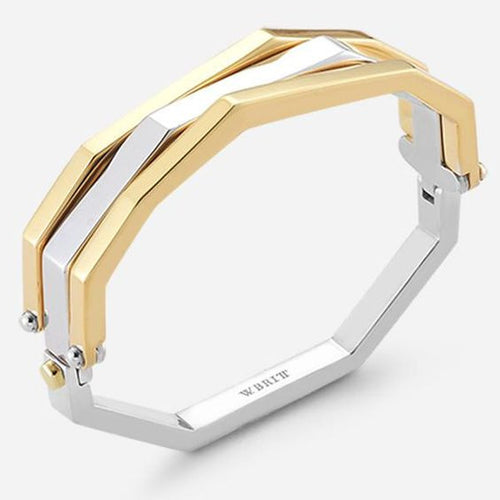 White/Yellow Flip Bracelet Thin