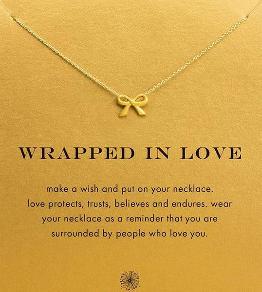 Wrapped In Love Necklace - Gold Dipped