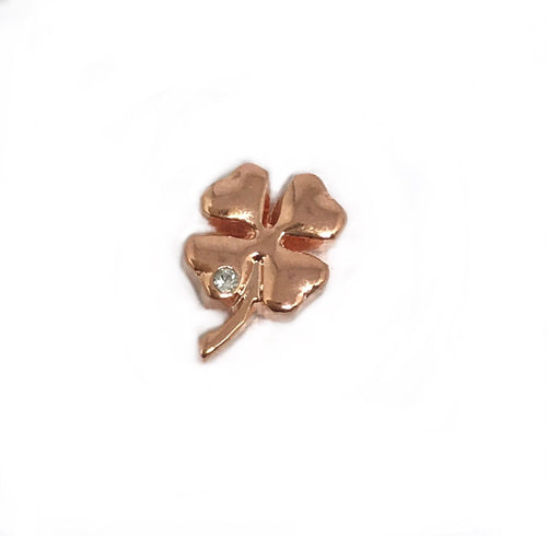 Rose gold shamrock
