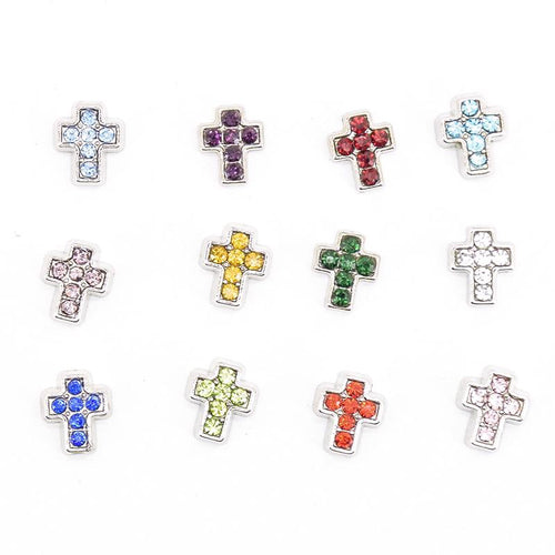 Crosses birthstone colours