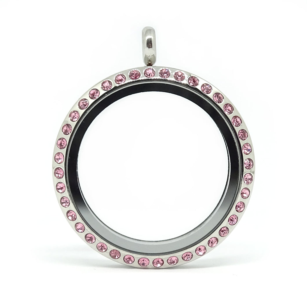 Pink sparkle locket