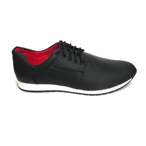 AutoMotiveShoes SELMOON ROBIN Negro. Piel