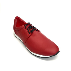AutoMotiveShoes SELMOON ROBIN Rojo. Piel